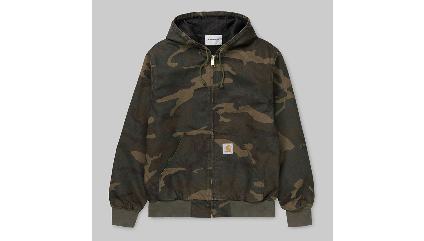 look for best sell new styles Carhartt WIP Active Jacket Camo Laurel rinsed
