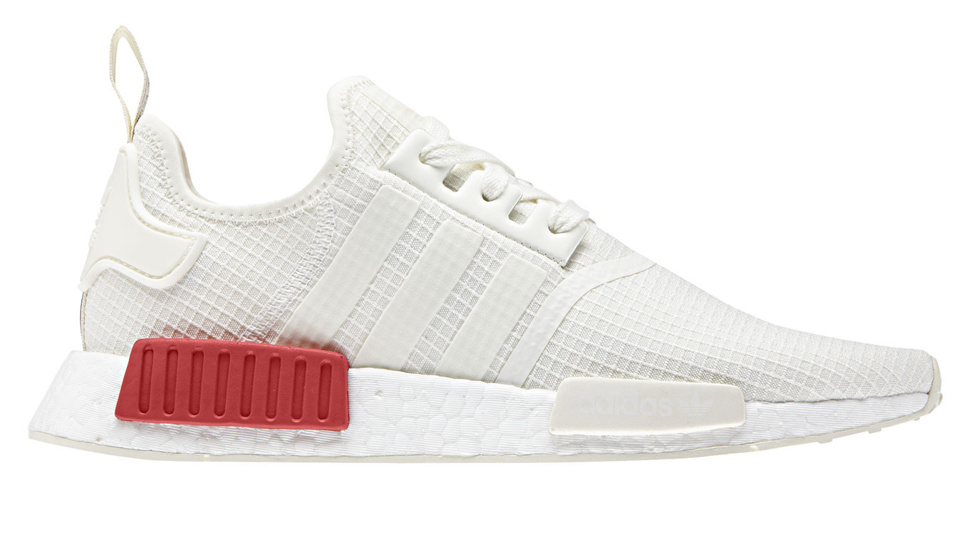 best sneakers 8d085 54408 adidas NMD R1 White Lush Red
