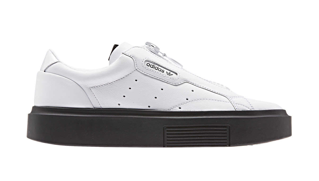 A modern take on adidas sport heritage. Perforated 3 Stripes