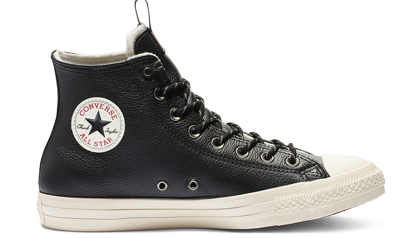Converse Chuck Taylor All Star Leather Hi Black kopen bij