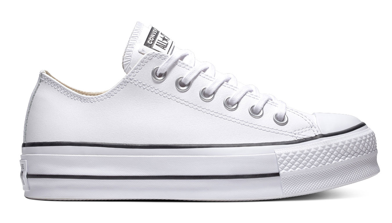 Gángster Comienzo Puerto  White sneakers Converse Chuck Taylor All Star Lift Clean Low Top - 72€ |  561680C | Shooos