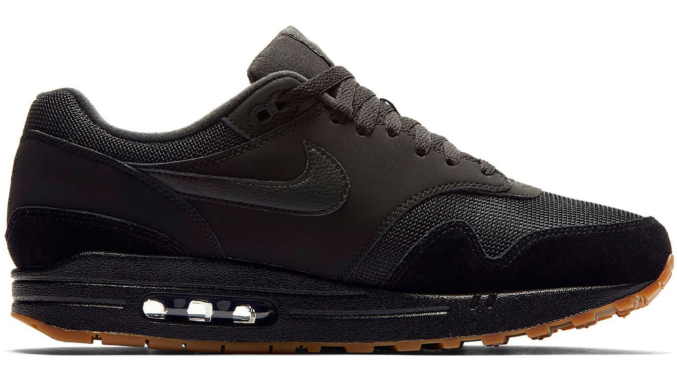 Nike Air Max 1 BlackBlack Black Gum Med Brown AH8145 007