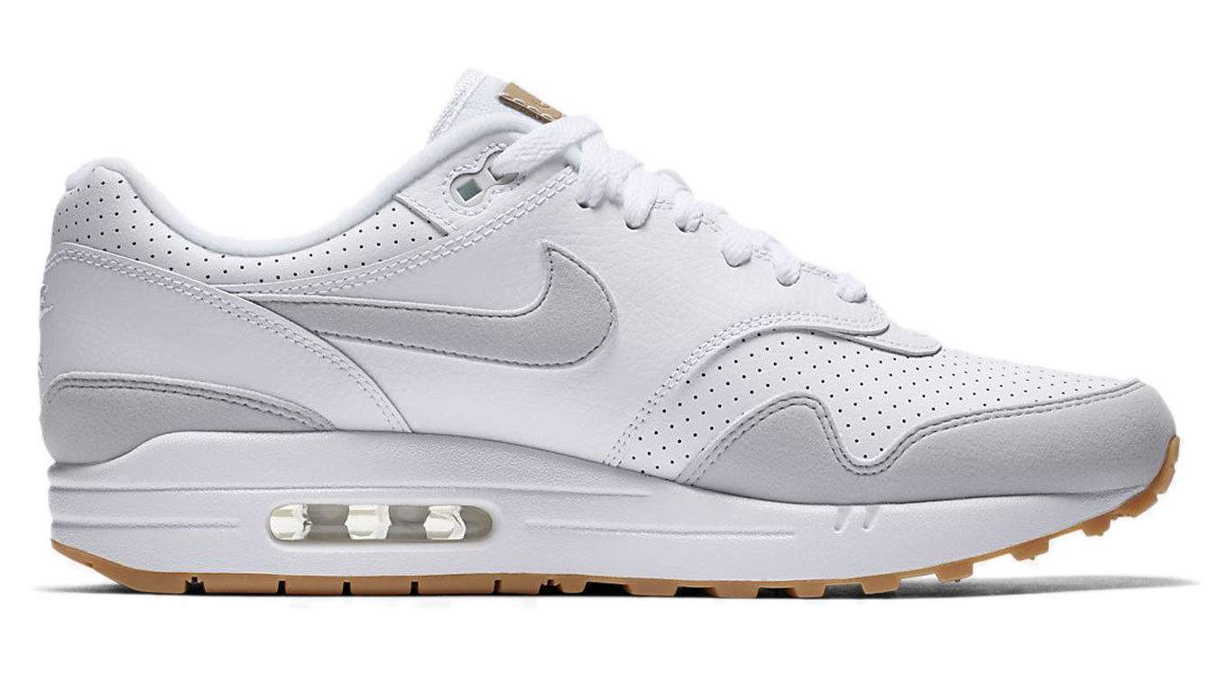 Nike Air Max 1 White Pure Platinum-Gum Yellow AH8145-103 34d95bf00
