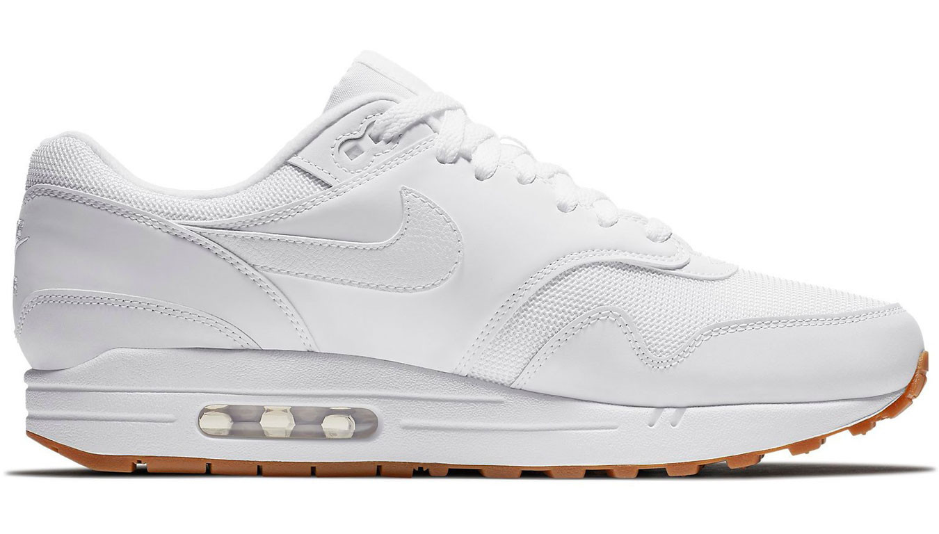Nike Air Max 1 White White-White-Gum Med Brown AH8145-109 8a6f1347db