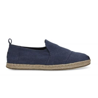 Toms Deconstruct Alpargata Rope Navy Washed