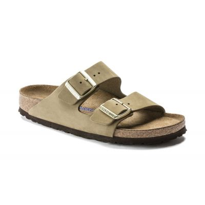 Birkenstock Arizona SFB Nubuck Faded Khaki