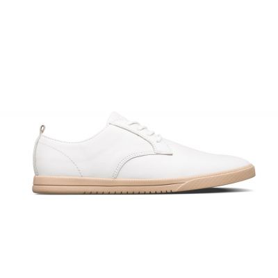 Clae Ellington White Milled Leather Vanilla