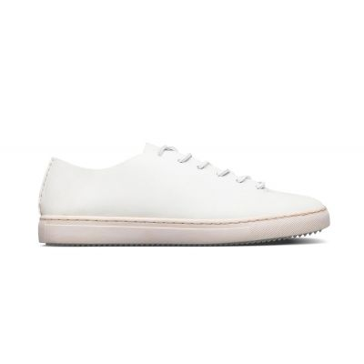 Clae One Piece White Veg Retan Leather