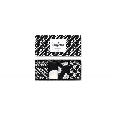 Happy Socks Black and White Gift Box 4-Pack